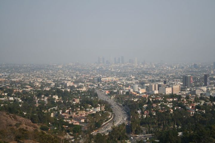 The City of Los Angeles has its fair share of smoggy days. Working toward reduced vehicle emissions can make a big difference in big city air quality.  - Photo: Wiki Commons