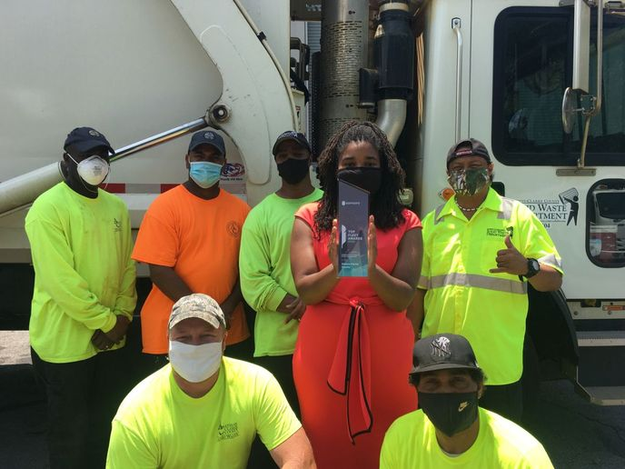 The Solid Waste Division at Athens-Clarke Countywas honored with the Excellence in Public Fleet Management Award. - Photo: Samsara