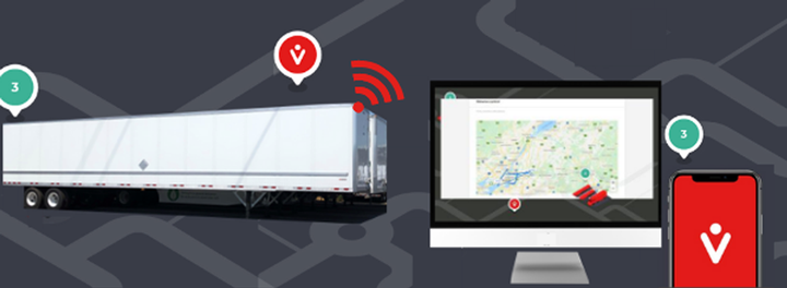vHub now includes the TrackLight tail lamp GPS trailer tracking solution from Anytrek and the 4W Telematics trailer tracking system. - Photo: vHub