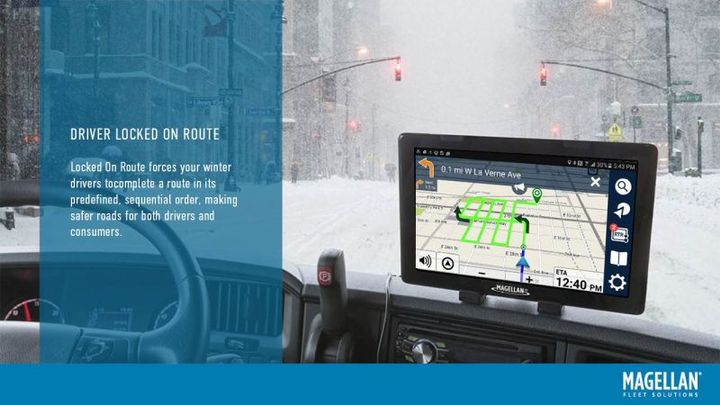 RouteComplete is built for all fleet markets, including: long- and short-haul trucking, service deliveries, and government/state/local operations for snow plowing, street sweeping, and waste collection.  - Photo: Magellan