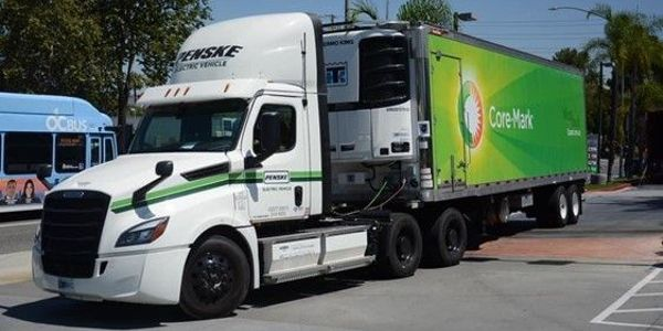 The electric truck fleet is supported by a network of heavy-duty electric vehicle charging...