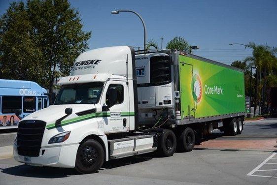 Penske Deploys Heavy-Duty Battery-Electric Truck with Core-Mark