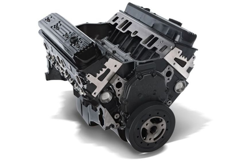 The new 350 service engine features brand-new four-bolt main blocks (not remanufactured) that...