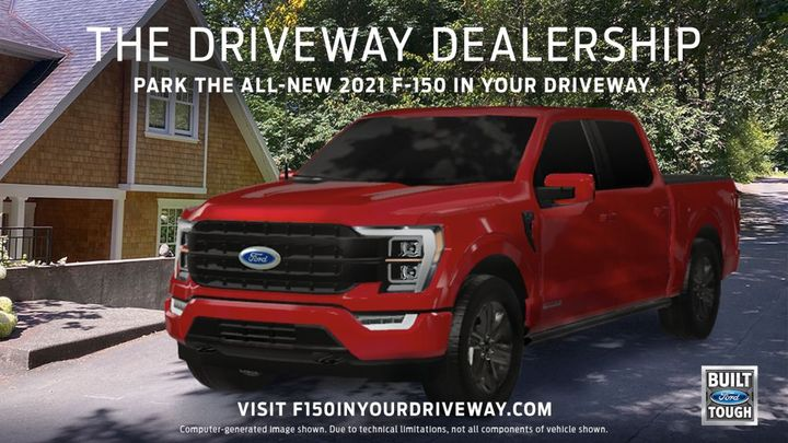 Now youcan place the all-new F-150 in adriveway, workplace, backyard or wherever they happen to be holding yourphone. - Photo: Ford Motor Co.