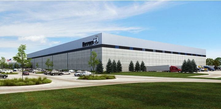 Here is a rendering of what the expanded warehouse will look like.  - Photo: Buyers Products