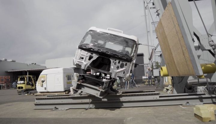 Western Star has tested the new truck at the structures lab at DTNA, which houses both full vehicle and cab-only shaker tables to accelerate durability testing and find breakage in the lab. - Photo: Western Star