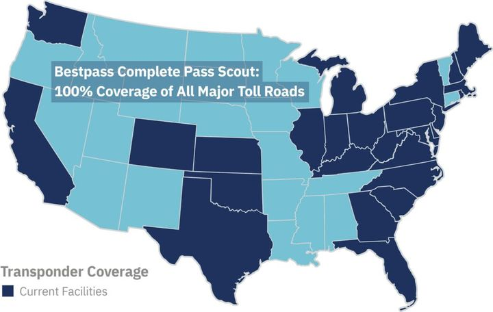 Horizon Scout, which includes two toll technology protocols, offers regional coverage in California, Colorado, Florida, Kansas, Oklahoma, Texas, South Carolina, and Washington state. - Photo: Bestpass