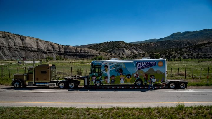 The Vail Valley Foundation's Magic Bus is based on Winnebago Industries' standard J33SE zero-emission commercial vehicle, utilizing Motiv Power Systems' all-electric EPIC Ford F-53 chassis. - Photo: Winnebago