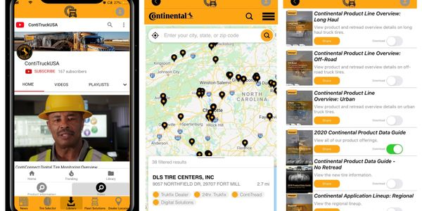 The tire and retread selector tool helps users choose the right tire based on fleet vocation,...