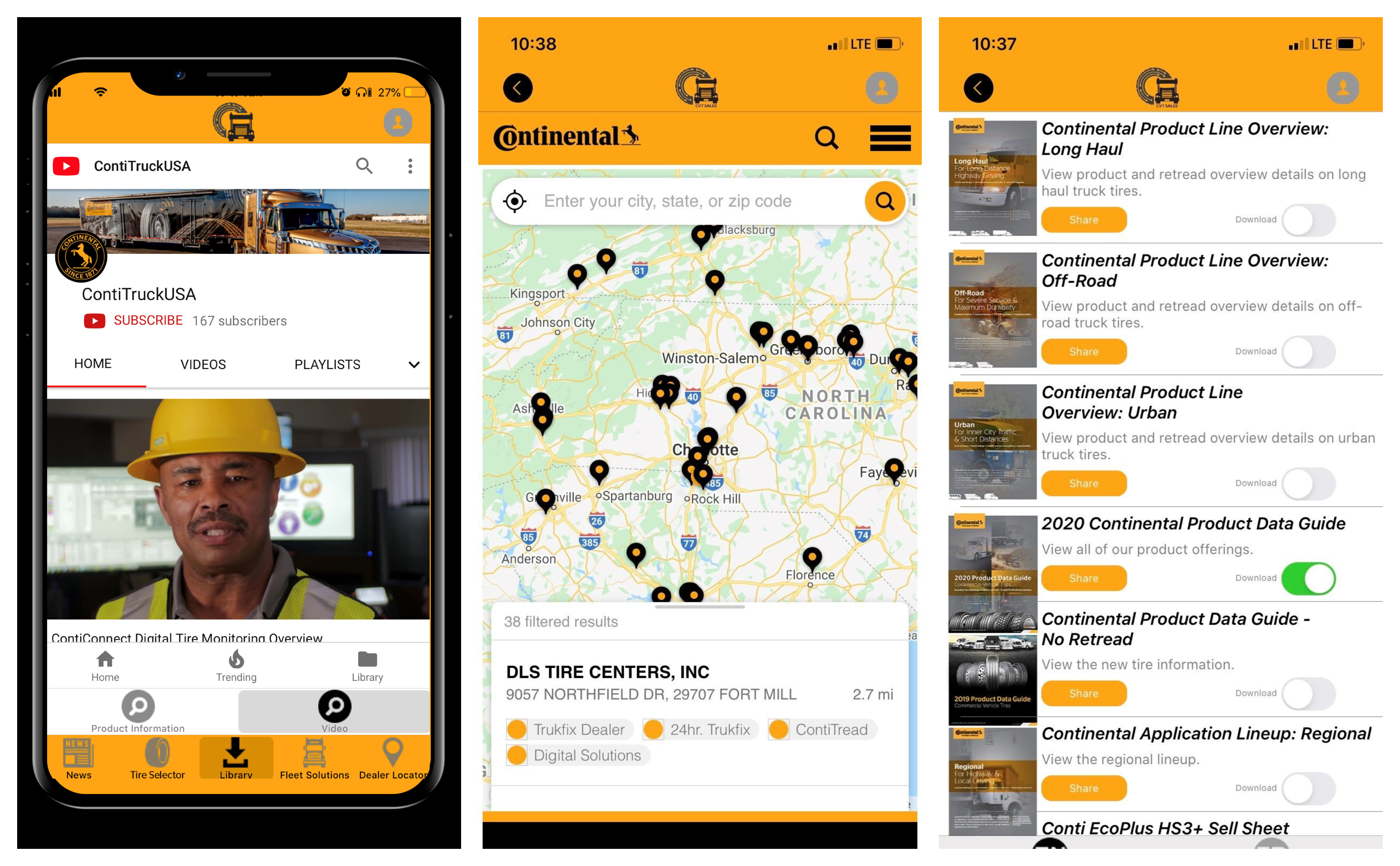 Continental Launches Mobile App for Fleets & Tire Dealers
