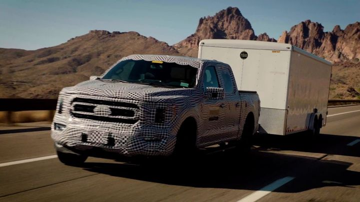 PowerBoost trucks loaded to the maximum available tow rating of 12,700 pounds climbed and descended the Davis Dam pass over and over and over again to prove the full durability of the engine. - Photo: Ford