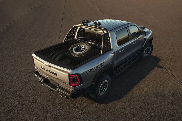 From running boards and bed steps to LED lights and spare tire carriers, Mopar is offering more than 100 accessories to customize the Ram 1500 TRX. - Photo: Ram Trucks