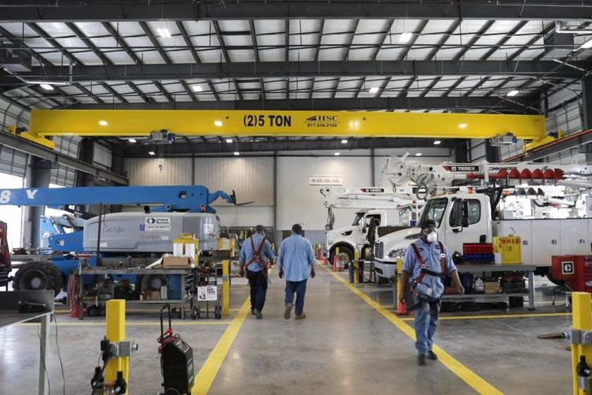 Equipped with drive-thru bays and two 10-ton bridge cranes, the shop is 80% larger than the...