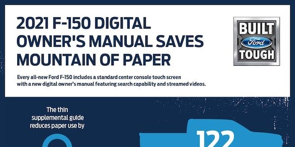 The 2021 Ford F-150 saves mountains of paper with its digital owner's manual.