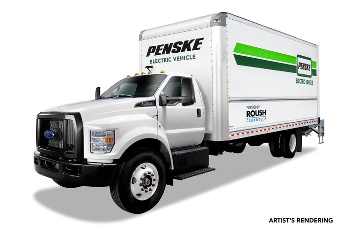 The battery-electric trucks have a maximum speed of 65 mph and a 100-mile range. - Photo: ROUSH CleanTech
