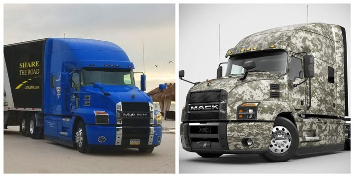 Mack donated Mack Anthem 70-inch Stand Up Sleeper models outfitted with all of the latest safety technologies to both ATA programs. - Photo: Mack Trucks