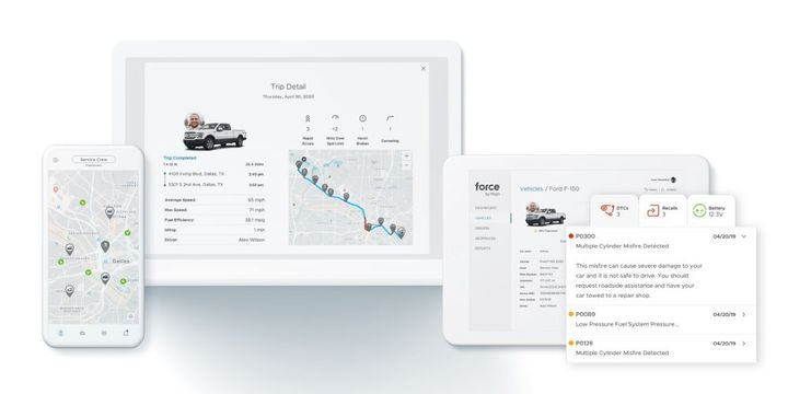 Force by Mojio gives small business owners mobile-friendly access to real-time vehicle data and alerts. - Photo: Mojio