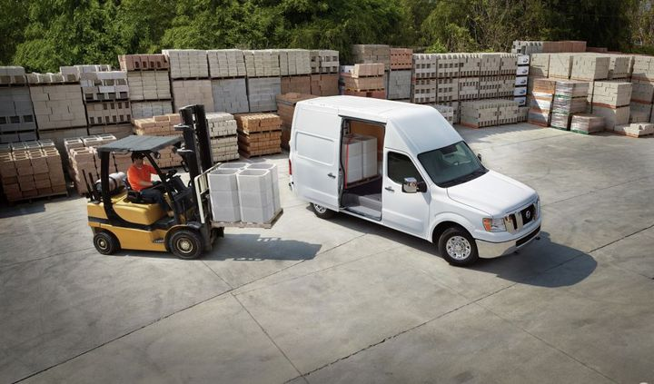 The Nissan NV Cargo provides body-on-frame construction across the entire lineup, including with a High Roof, which provides most users the ability to walk, stand, and work in the cargo area. - Photo: Nissan