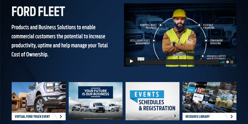 There are four Ford Fleet Live events supported by a resource library packed with video content...