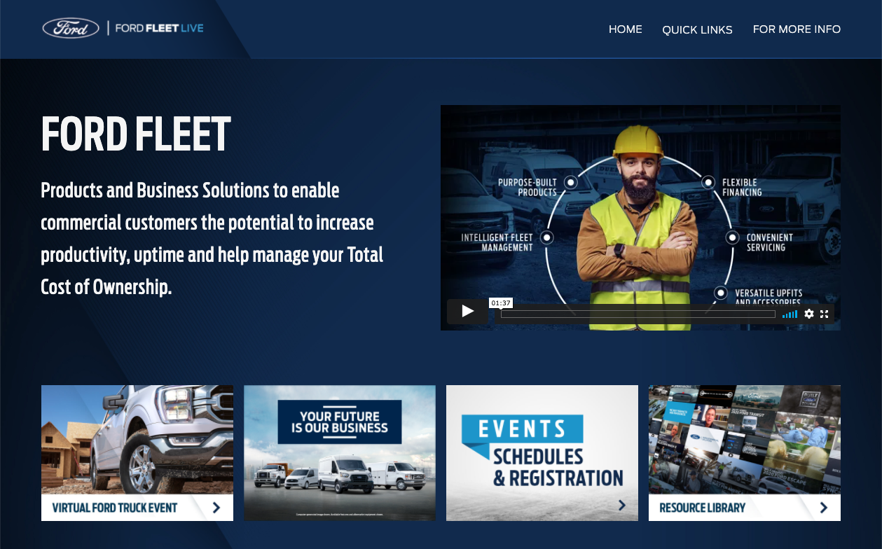 Ford Virtual Event Highlights Truck, Van, and Fleet News, Trends