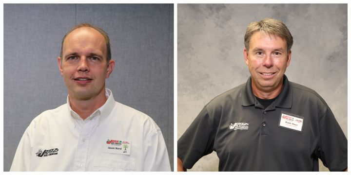 Randy Bauer (left) was named Vice President of Support Services and Jason Nord (right) was named Vice President of People Services. - Photo: Jasper Engines & Transmissions