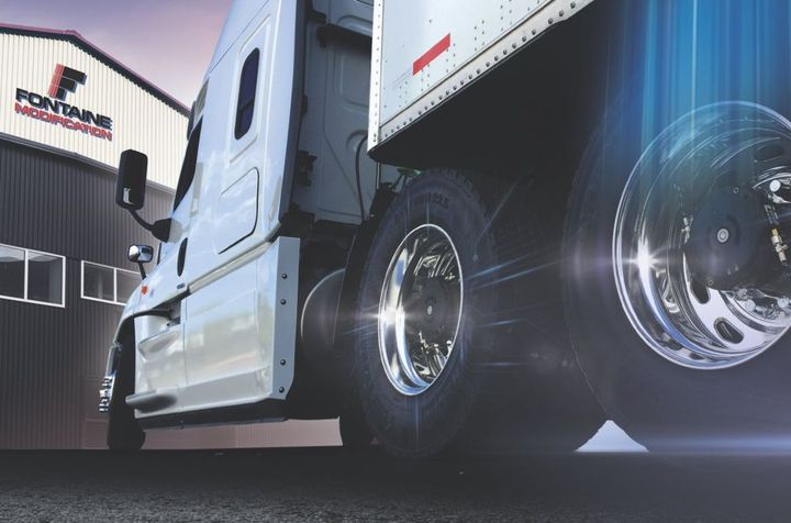 Used extensively in heavy-duty trucks since 2015, the Halo is aN automatic tire inflation system for trucks and trailers - Photo: Fontaine Modification