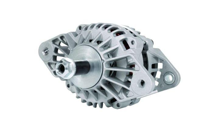 The LoadHandler L24 12V 160-amp brushed alternator. - Photo: LoadHandler