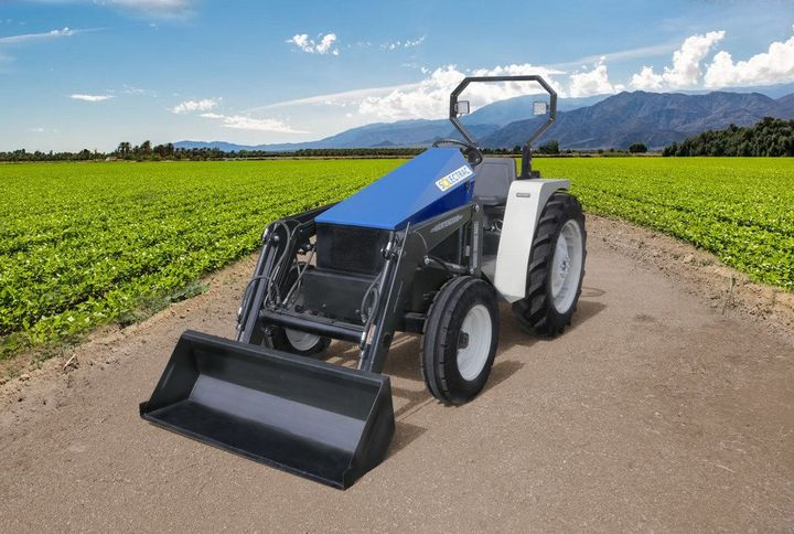 Solectrac develops, assembles, and distributes 100% battery-powered electric tractors—an alternative to diesel tractors—for agriculture and utility operations. - Photo: PRNewsfoto/Solectrac,Ideanomics