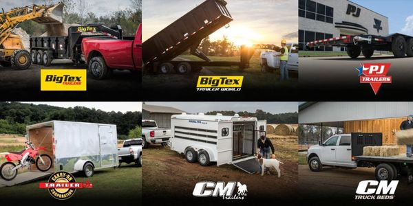 ATW offers a large number of brand options including Big Tex Trailers and CM Truck Beds.