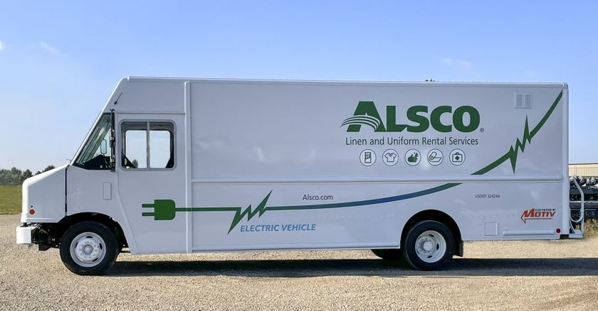 Motiv deployed four all-electric step vans with Alsco, a global uniform service company.