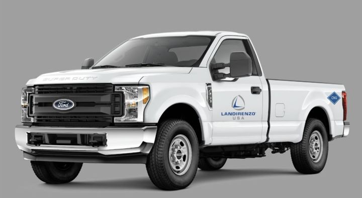 Landi Renzo USA secured California Air Resources Board (CARB) Certification for the dedicated/mono-fuel CNG 2021 model-year Ford F-250 and F-350 6.2L vehicles. - Photo: Landi Renzo USA