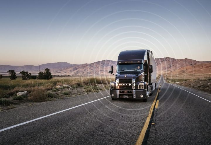 OTA offers customers the ability to implement software updates and vehicle parameter settings remotely through Mack GuardDog Connect. - Photo: Mack Trucks