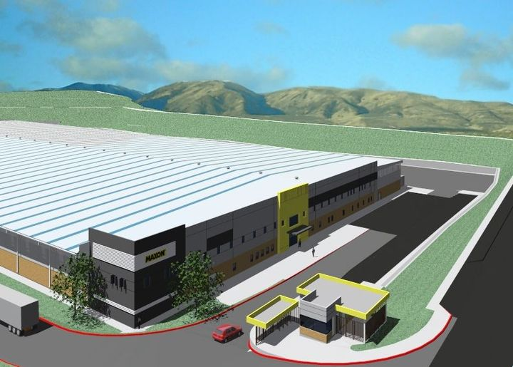 pon completion, Maxon will have over 800,000 total square feet of liftgate manufacturing space spread across the two plants. - Photo: Rendering from Maxon Lift