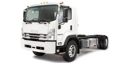 Enhanced visibility is made possible by Isuzu's low cab forward-designed cab and new LED headlamps.