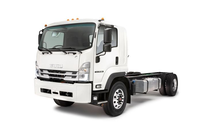 Enhanced visibility is made possible by Isuzu's low cab forward-designed cab and new LED headlamps. - Photo: Isuzu