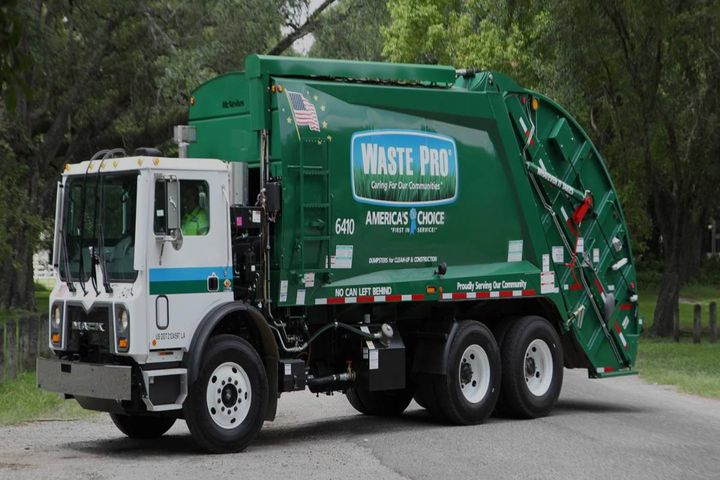 Waste Pro's crew spent six months and $51,000 to make repairs, install new parts, give a fresh coat of paint, and more to give the truck another life. - Photo: Waste Pro