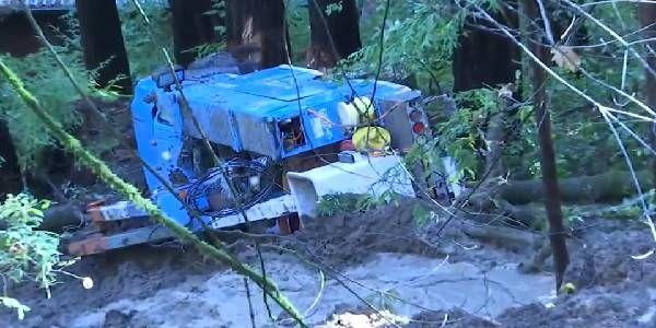 California Mudslide Sinks PG&E Worker's Truck