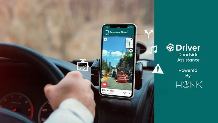 Using AI-based automotive technology, Driver enables users to record their trip, receive collision warnings and distracted driving alerts, as well as turn-by-turn directions. - Photo: HONK