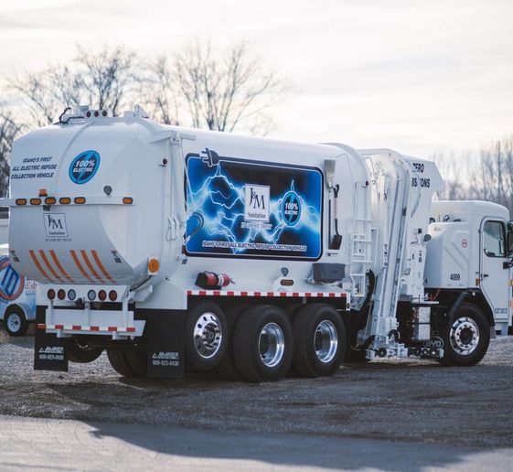 J&M Sanitation has deployed two all-electric Class 8 refuse trucks from BYD. - Photo: BYD