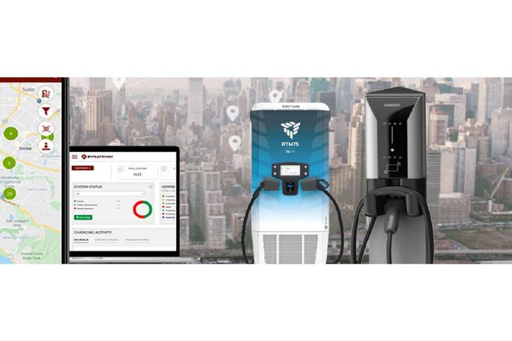 EvGateway has been awarded a contract by Southern California Edison to provide a turnkey charging solution that includes electric vehicle charging infrastructure, payment gateway, and more for a multi-year project. - Photo:Tritium