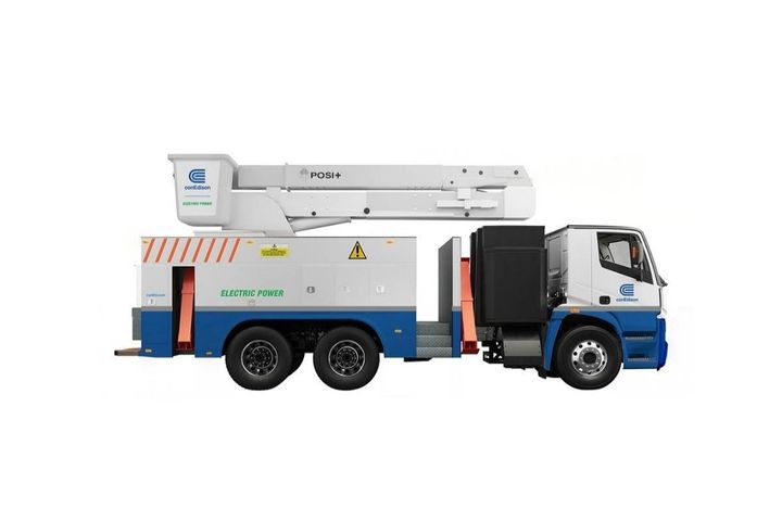 Con Edison, Lion Electric, and Posi-Plus are developing an electric bucket truck capable of performing the full range of work that utilities require. - Photo: Con Edison