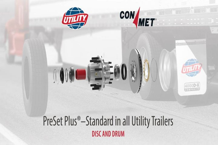 The ConMet Preset Plus features an optimized bearing spacer, precision machined casting, extended life seals, and more. - Photo: Utility