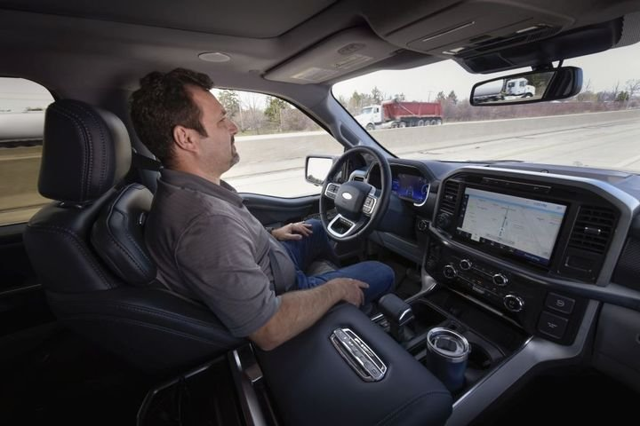 The system will be offered via over-the-air software updates on 2021 F-150 models equipped with the available Ford Co-Pilot360 Active 2.0 Prep Package. - Photo: Ford