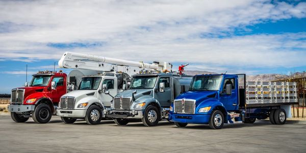 Kenworth shows off its lineup of medium-duty truck offerings.