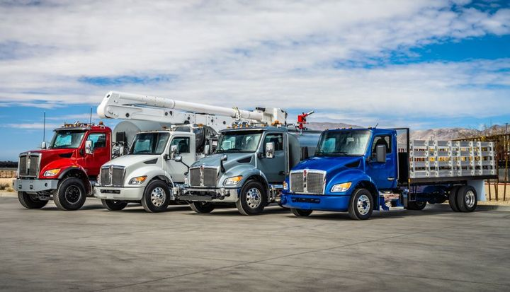 Kenworth shows off its lineup of medium-duty truck offerings.  - Photo: Kenworth