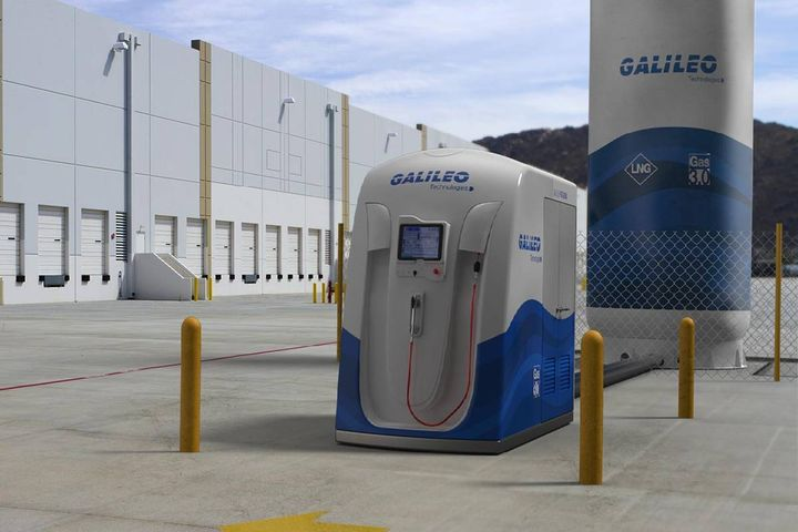 The fueling station is targeted at logistics centers and service stations to guarantee LCNG fast filling. - Photo: Galileo