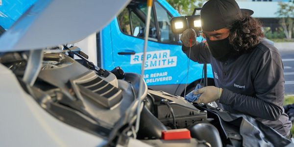 RepairSmith's certified technicians are employees of the company and drive custom-outfitted...