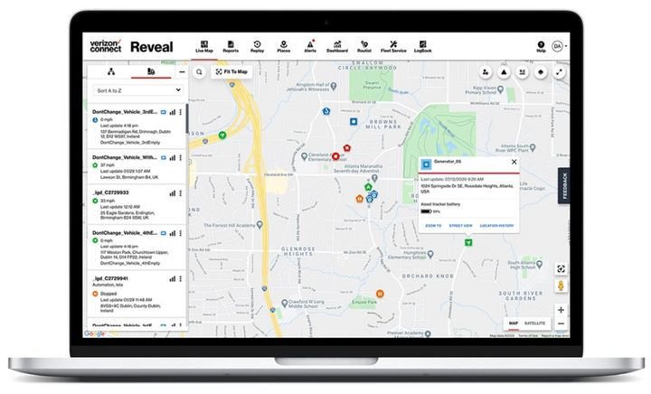 Fleets can now monitor assets as well as their vehicles, drivers, and jobsonline through Verizon Connect Reveal fleet management platform or the Verizon Connect Spotlight app. - Photo: Verizon Connect