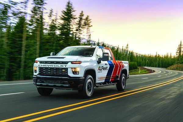 Among the vehicles offered by XL Fleet is the hybrid Chevy Silverado pickup truck. - Photo: XL Fleet