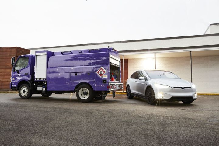 Booster, which runs its own fleet of mini mobile refueling trucks, has been using Insights since the tool was developed in 2016. - Photo: Booster